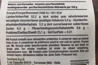 Amandes Decortiquees - Informations nutritionnelles - fr