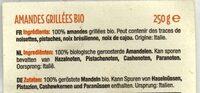 Amandes Grillées BIO - Ingrediënten