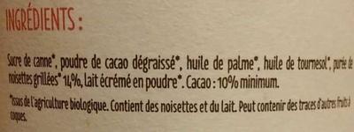 Chocobella Noisettes et chocolat - Ingredienti - fr