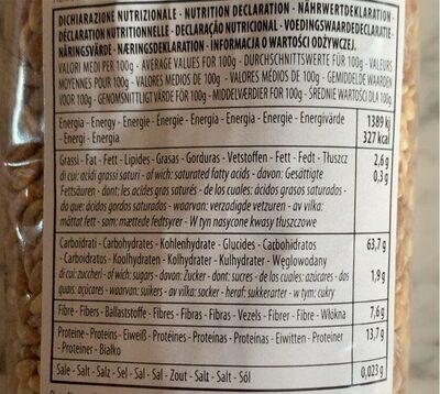 Farro umbro perlato - Valori nutrizionali - it