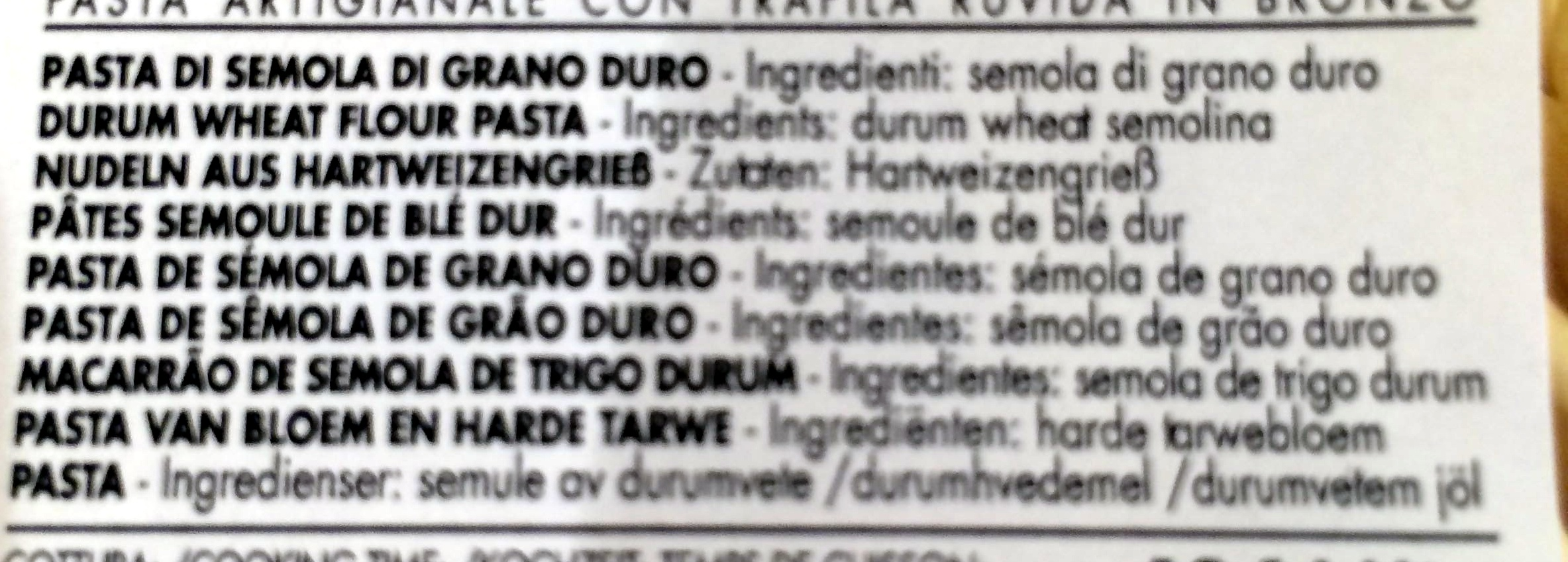 Trofie - Ingredients - it