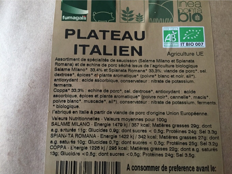 Plateau italien - Informations nutritionnelles - fr