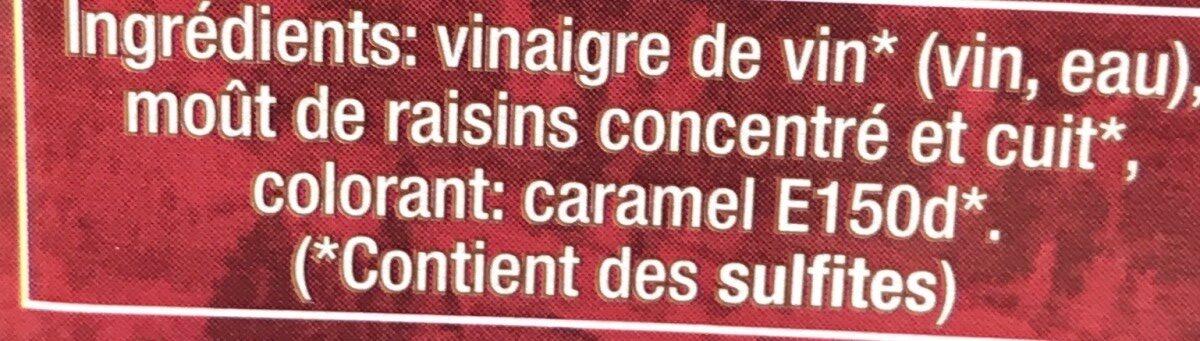 Vinaigre Balsamique de Modène - Ingredients - fr