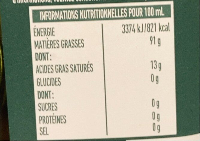 Huile d'olive vierge extra Classico 75 CL - Nutrition facts - fr