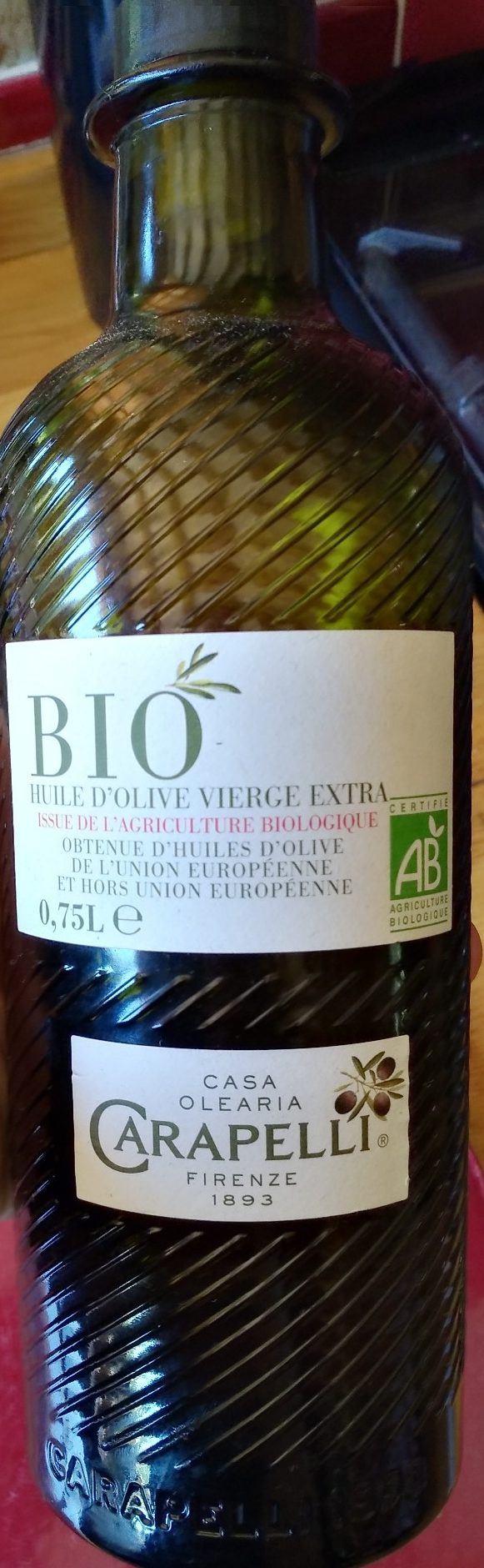 Huile d'olive bio vierge extra Carapelli - Product