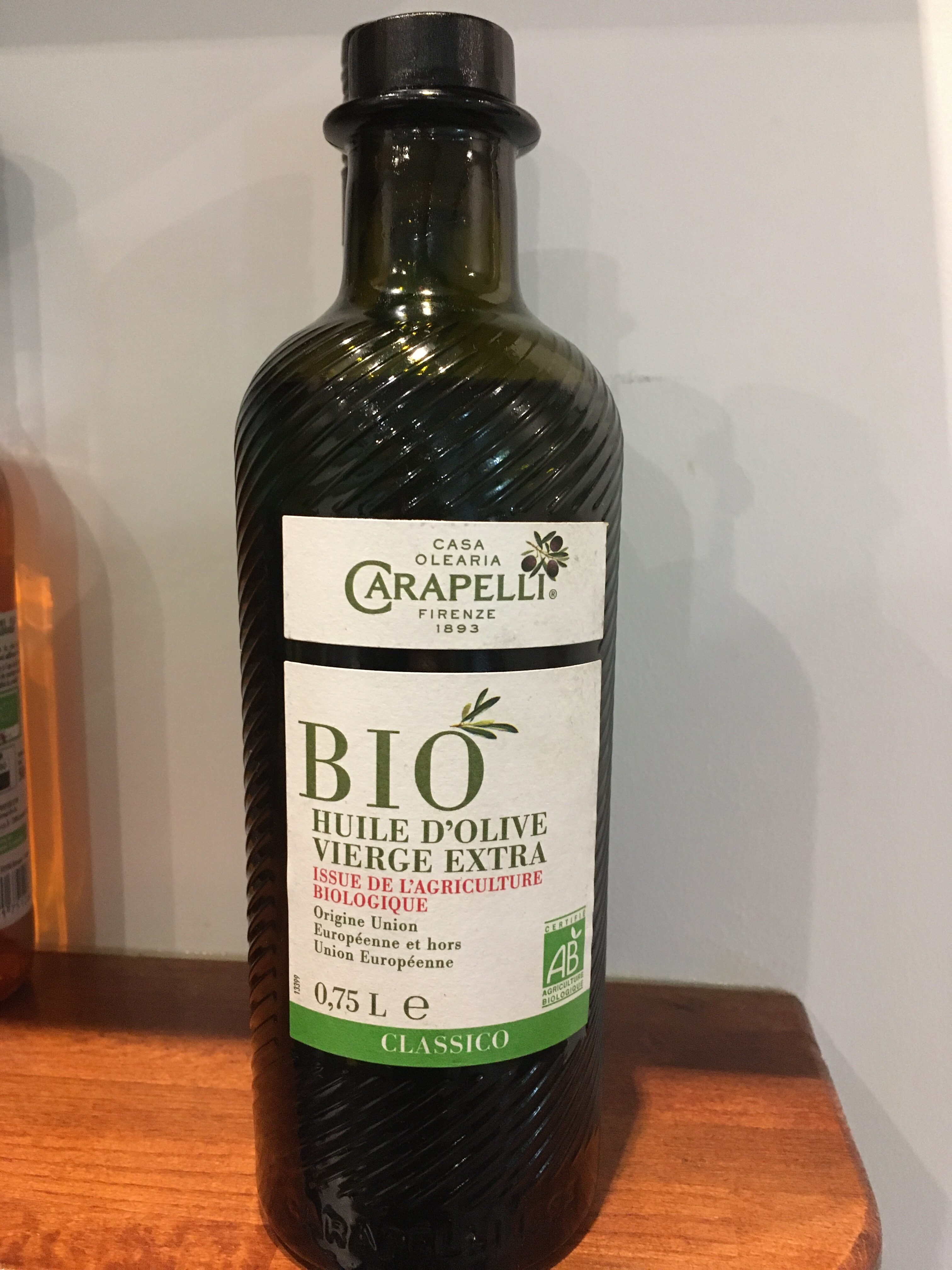 Huile d'olive vierge extra Bio Classico 75 CL - Product - fr