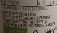 Huile d'olive vierge extra Bio Classico 75 CL - Ingrediënten - fr