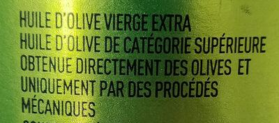 Huile d'olive vierge extra Bio Classico 75 CL - Ingrediënten - fr
