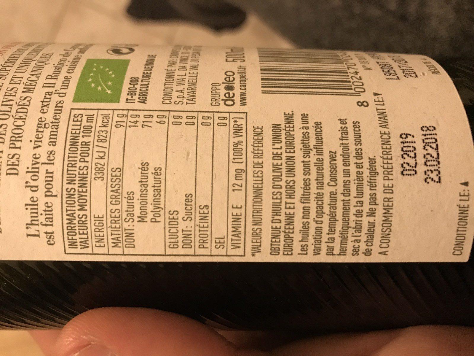 Huile d'olive - Ingrédients - fr