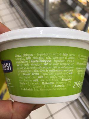 Ricotta - Ingredients - fr