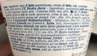 Ambrosi - Ricotta - Ingredients - fr