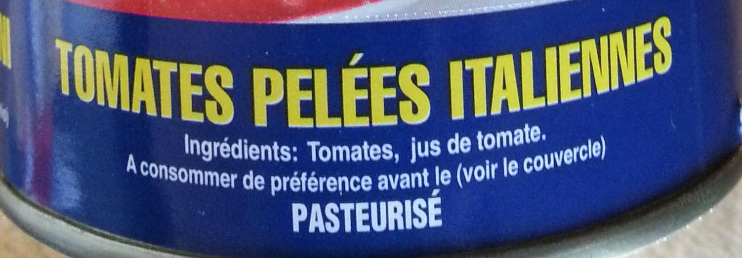 Tomates pelées italiennes - Inhaltsstoffe - fr