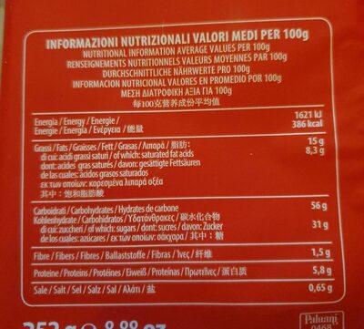 Cornetti di pistacchio/ croissants aux pistache - Informations nutritionnelles - fr