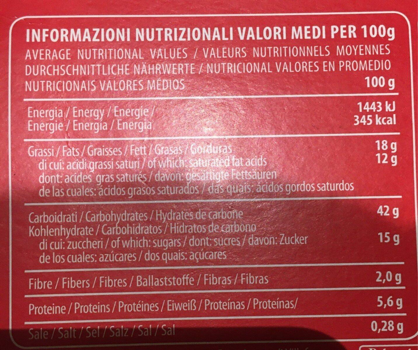 Pandoro di verona sanza glutine - Nutrition facts - fr