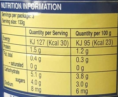 Annalisa Canned Tomatoes - Nutrition facts