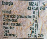 Bio. 100% Arancia - Informations nutritionnelles - fr