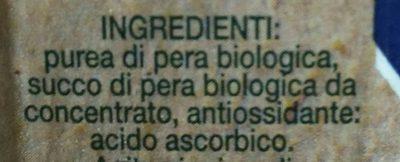 Bio 100% pera - Ingredients - it