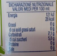 Dolce do natura - Informations nutritionnelles - it