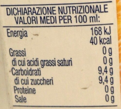 Arancia Bionda - Informations nutritionnelles - fr
