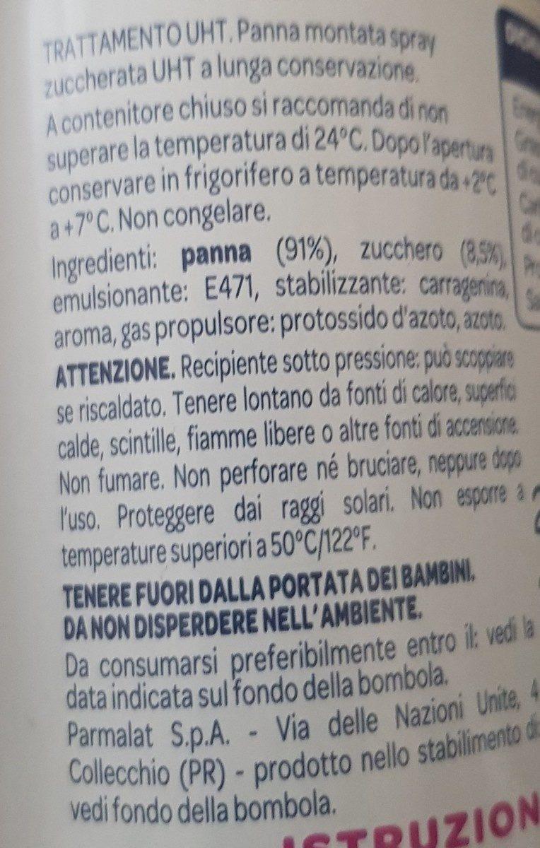 Panna Chef Spray ML 250 - Ingrédients