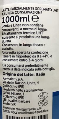 Latte Parmalat 100% Italiano - Inhaltsstoffe - it