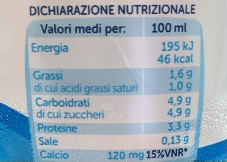 Latte Parmalat 100% Italiano - Nährwertangaben - it