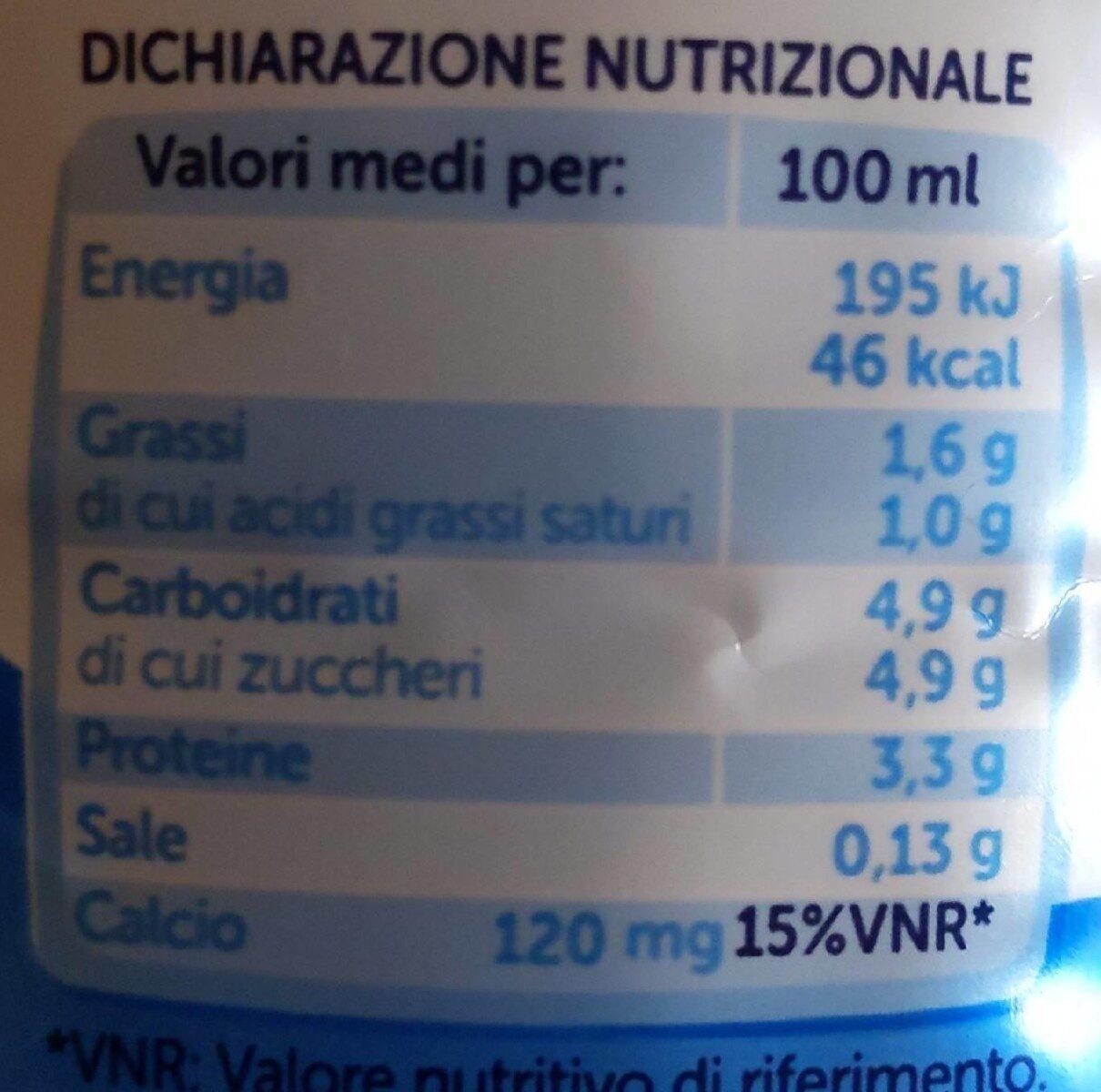 Bontà e linea latte parzialmente scremato - Informations nutritionnelles - it