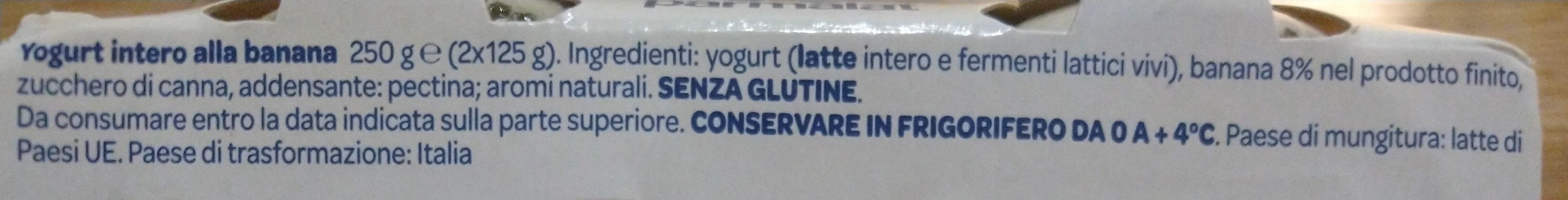 yogurt intero banana - Ingrédients - it