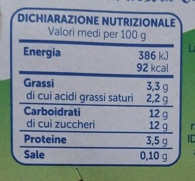 yogurt intero banana - Informations nutritionnelles - it