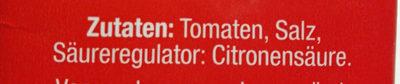 Passierte Tomaten - Ingrédients - de