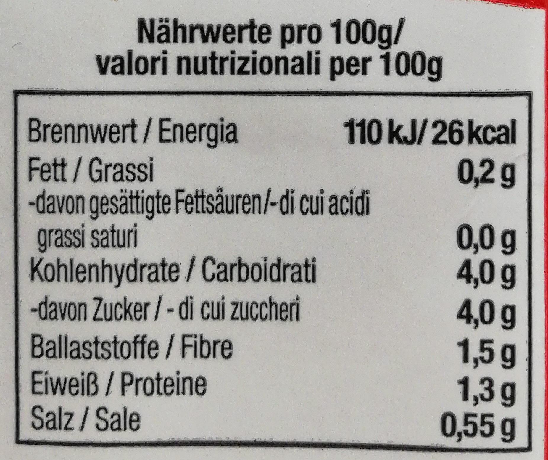 Passierte Tomaten - Informations nutritionnelles - de