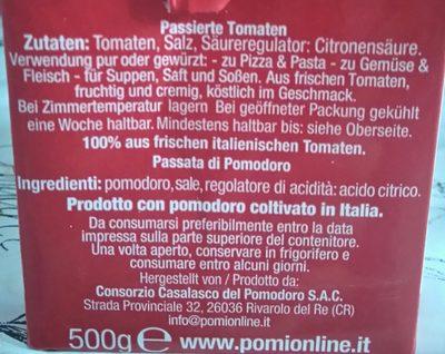 Passierte Tomaten - Ingrédients - fr