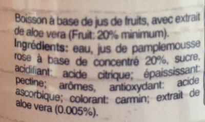 Santal Pompelmo Pink 1Lt - Ingrédients - fr