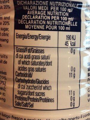 Santal Pesca-limone 1 LTR. Pet - Informations nutritionnelles - fr
