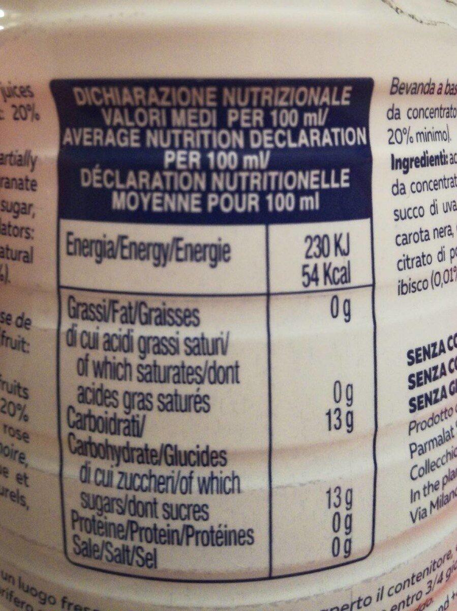 Santal Refresh uva rossa - Informations nutritionnelles - fr