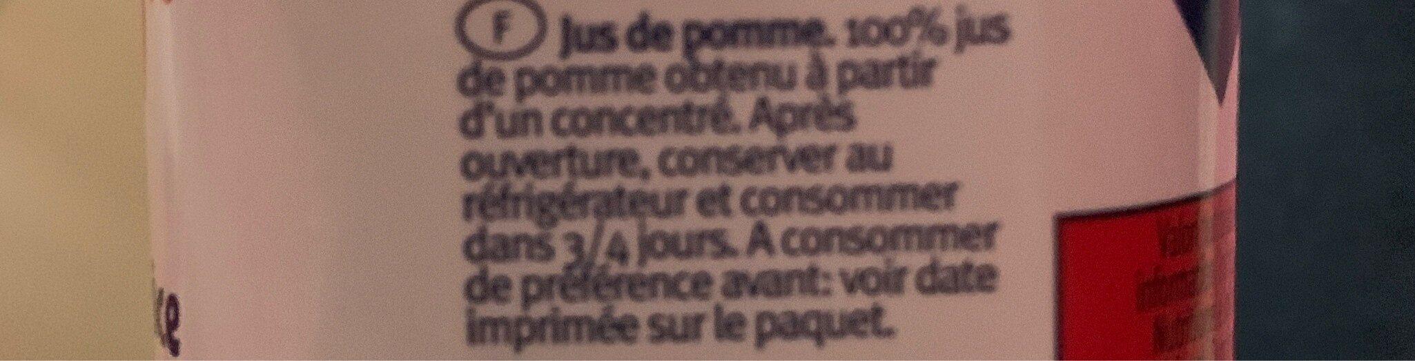 Apple Juice - Ingrédients - fr