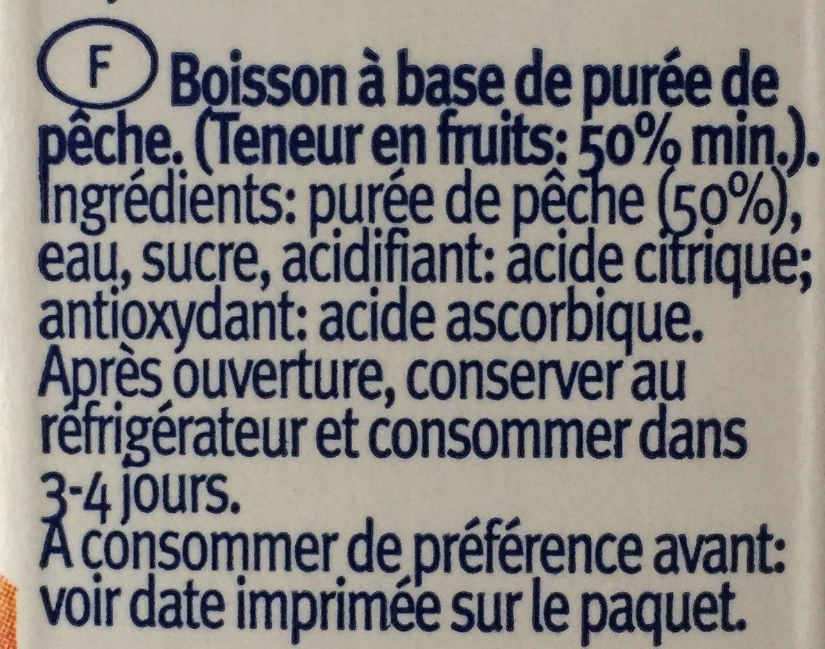 Peach Juice - Ingrédients - fr