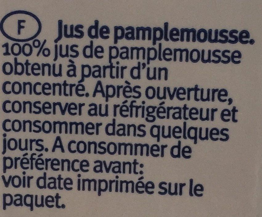 Santal Grapefruit Juice 1lt - Ingrédients - fr