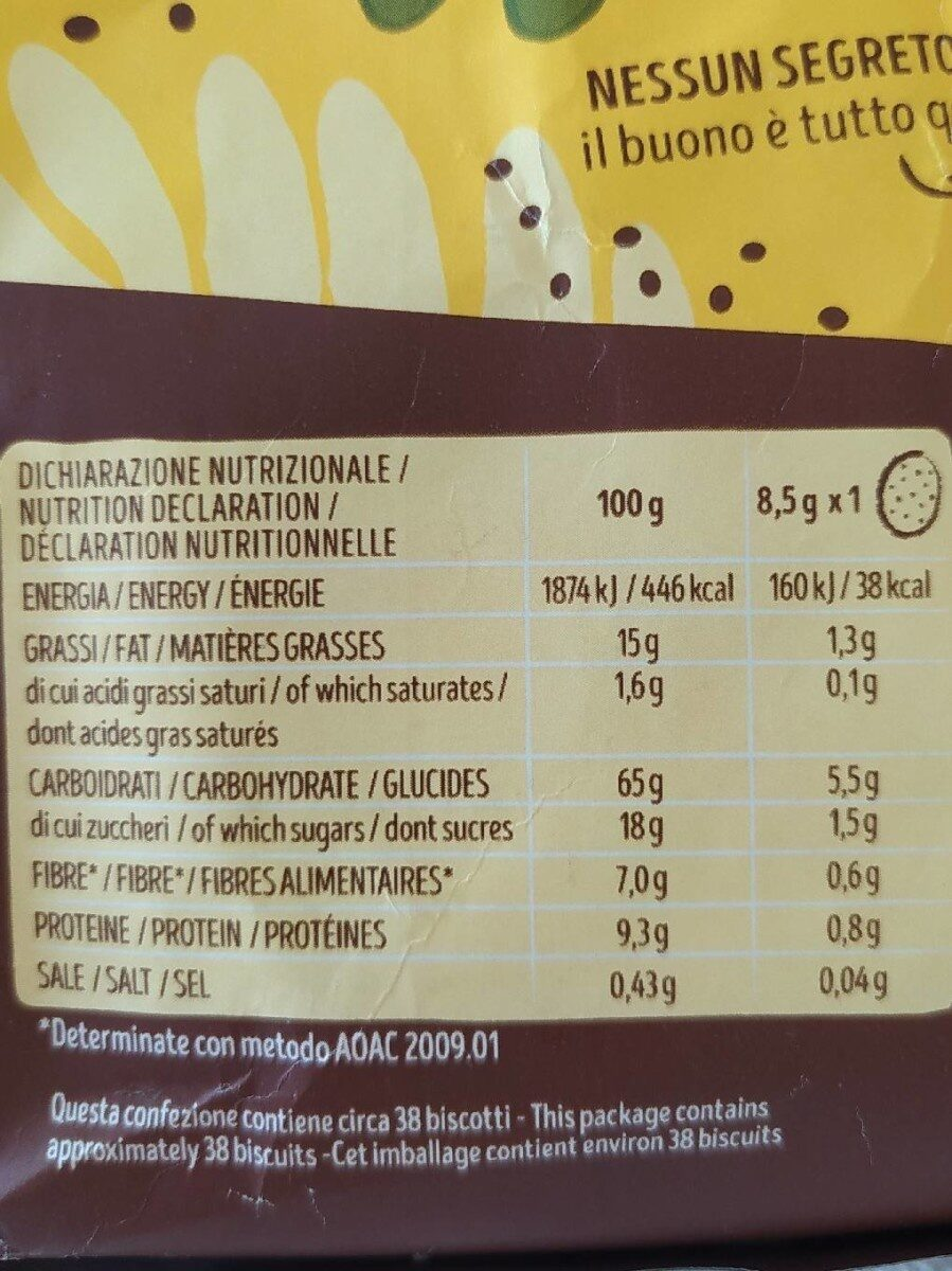 Multigrain - Informations nutritionnelles - fr