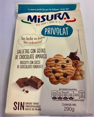 Galletas con gotas de chocolate amargo - Product - es