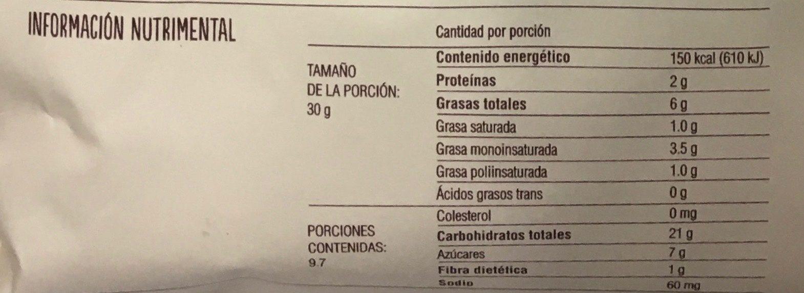 Galletas con gotas de chocolate amargo - Voedingswaarden - es