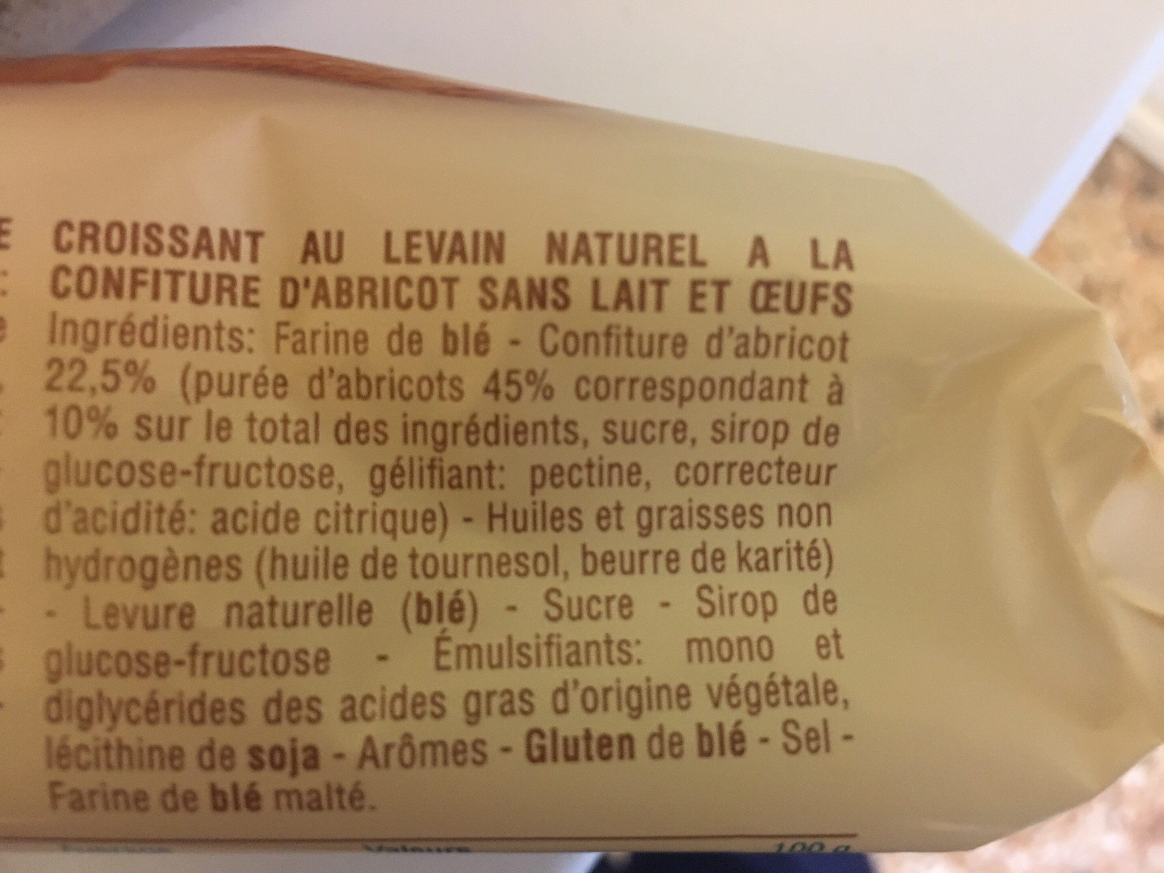 Croissant à l'abricot - Ingrédients - fr