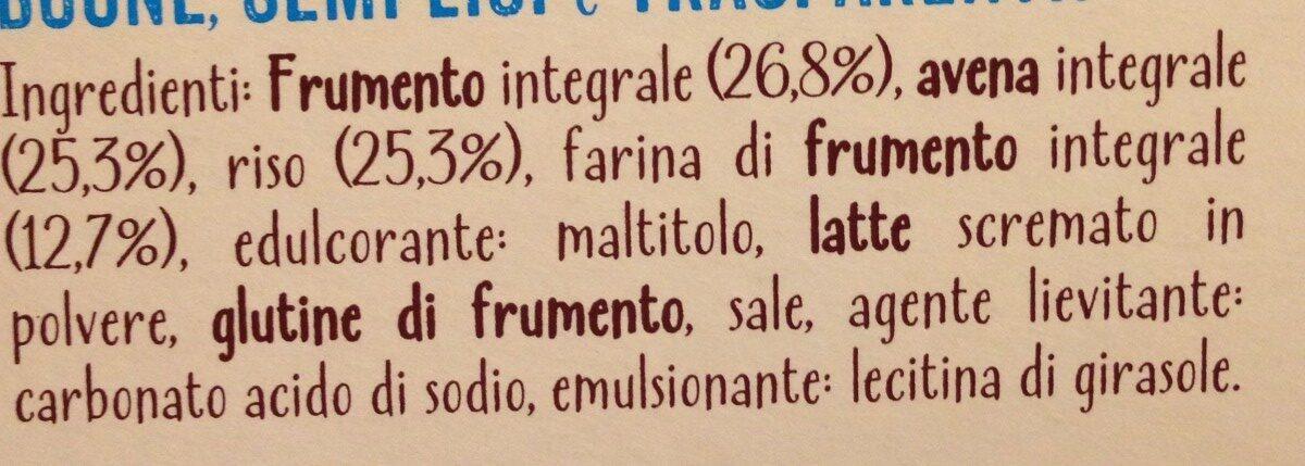 Frumento integrale, riso e avena - Ingrédients - fr