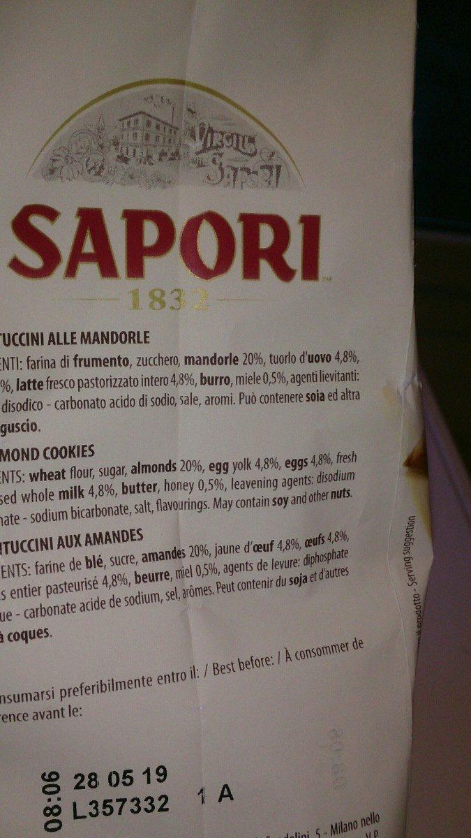 Cantuccini Toscani IGP alle mandorle - Ingrediënten - fr