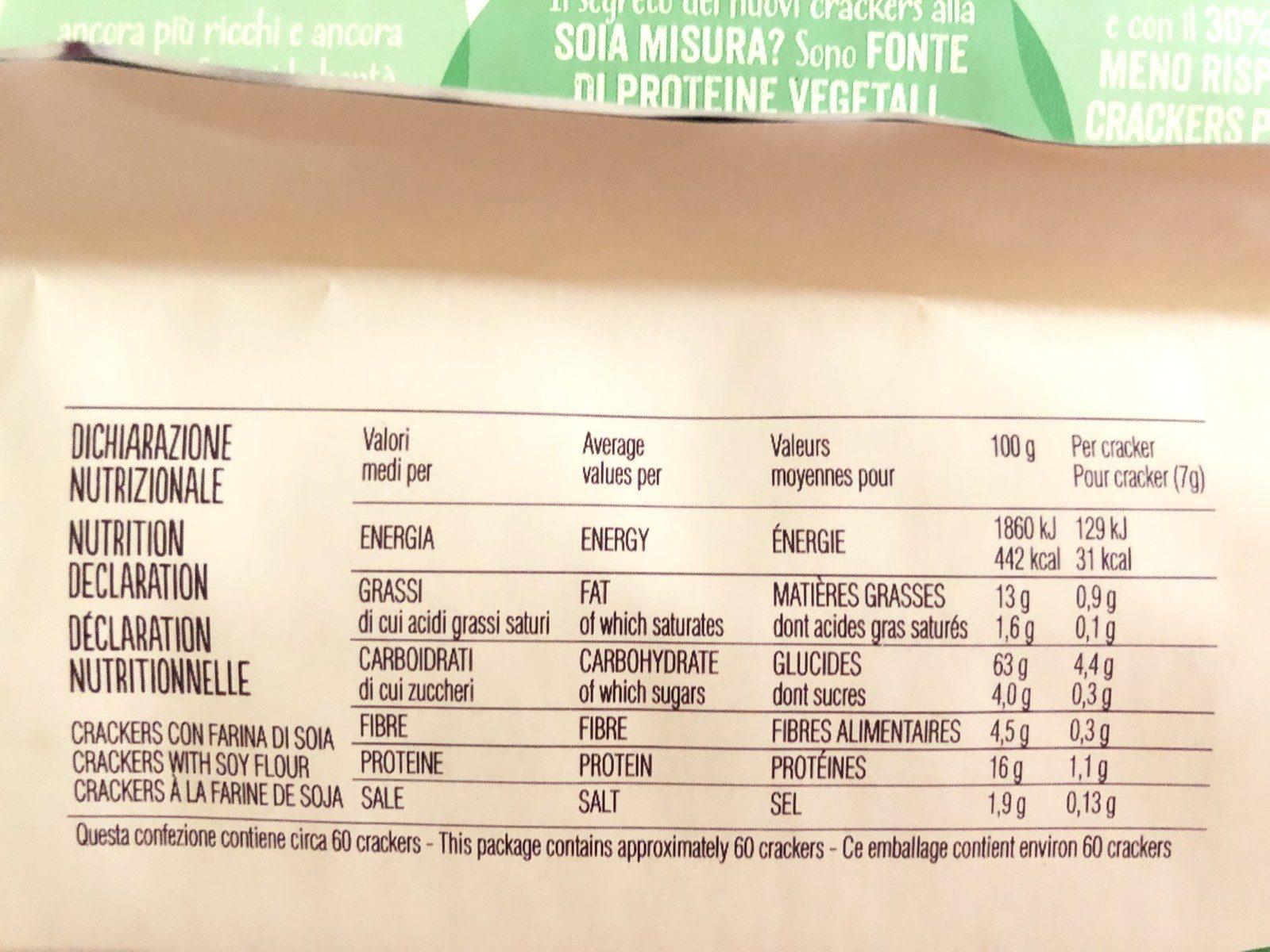 Crackers alla soja - Ingredients