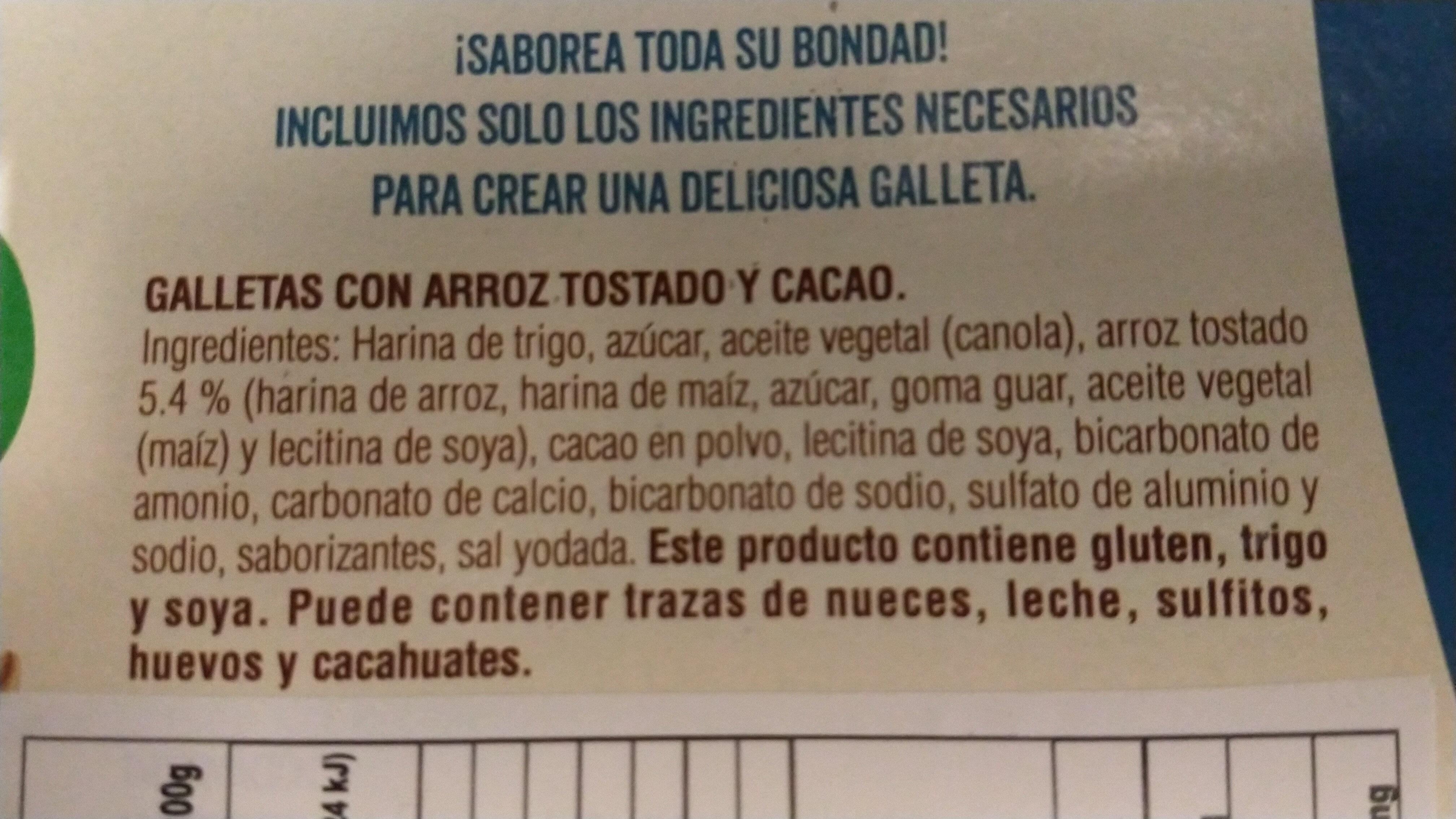 galletas de cereales & cacao - Inhaltsstoffe - es