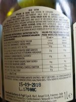Frantoia huile d'olive - Nutrition facts