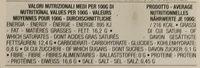 Mozzarelline - Informations nutritionnelles - fr
