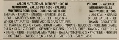 Mozzarelline - Informations nutritionnelles