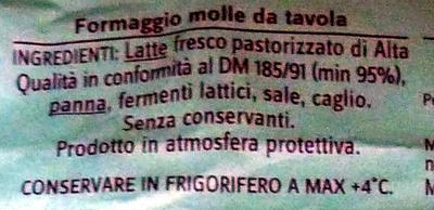 Stracchino cremoso - Ingrediënten - it